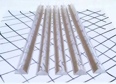2 Pieces 12 X 12 X 34 Clear Acrylic Plexiglass Triangle Rod 24 Inch Long