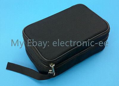 Us Ship Double Layer Zipper Carrying Case Bag For Multimeters Ut61e Fluke 87v