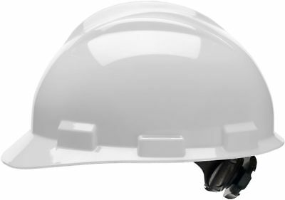 Bullard Cap Style Hard Hat With 4 Point Ratchet Suspension Light Gray