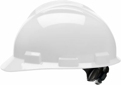 Bullard Cap Style Hard Hat with 4 Point Ratchet Suspension, White