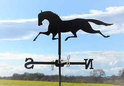 Standard Galloping Horse Metal Weathervane (Post Fix Bracket)