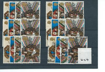 GB - COMMEMORATIVES - 1974 - W24 - SIX SETS -  CHRISTMAS -  USED