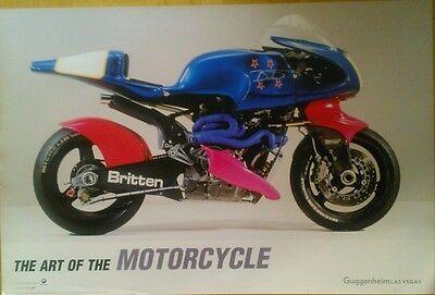 THE ART OF MOTORCYCLE Britten V 1000 Neuseeland Guggenheim Las Vegas Poster