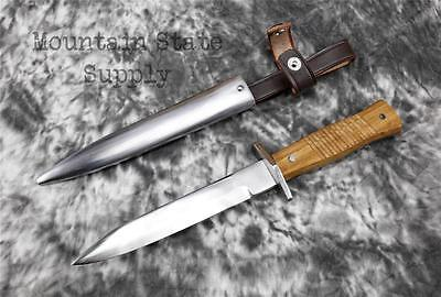 """German WWI Army Trench Fighting 6"""" Combat Boot Knife & Metal Scabbard Repro Set"""