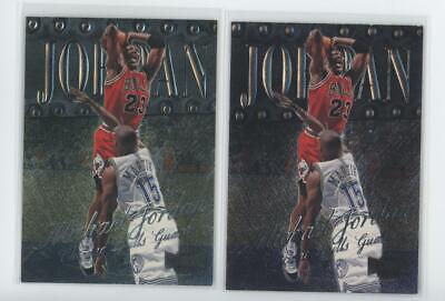 1998 Skybox Metal Universe #1 Michael Jordan Chicago Bulls Lot of 2