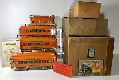 "AMERICAN FLYER""THE STATESMAN""STANDARD GAUGE PASSENGER TRAIN SET,W ORIGINAL BOXES"