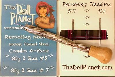 Doll Rerooting Tool kit +4 Needles for Rerooting Dolls Rehairing My Little Pony