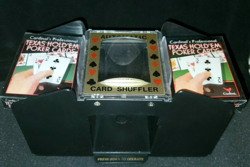 Four Deck Automatic Card Shuffler Used Please see all pictures & read info.