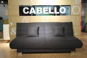 Charcoal Emma sofa bed with a  click clack system Homebush West Strathfield Area Preview