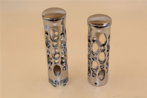 """Motorcycle Chrome 1"""" Hand Grips For Kawasaki Classic Nomad 1700 2000 900 800"""