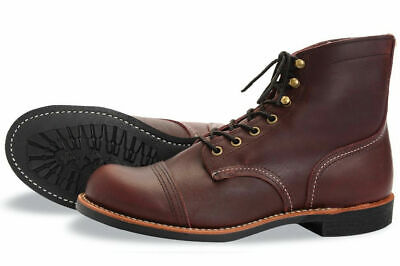 Red Wing Heritage 6 Inch Iron Ranger Mens Work Boots Oxblood (Red Wing Mens Iron Ranger 6 Boot)