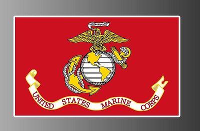 (USMC United States Marine Corps flag sticker vinyl decal - choose size)