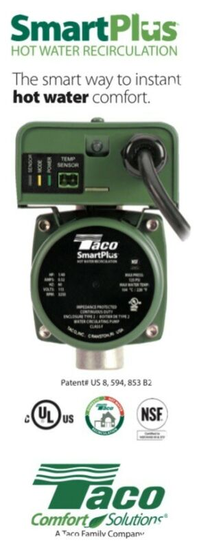 TACO 003-IQB4 Smart Plus Hot Water Recirc
