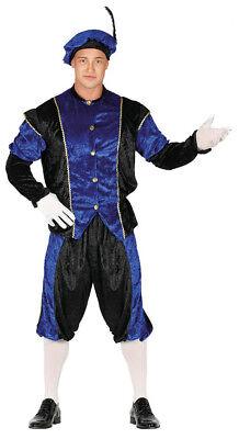 Herren Mittelalter Kostüm Tudor Weihnachten Verkleidung Blau Seite - Tudor Dienstmädchen Kostüm