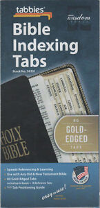 Tabbies Bible Indexing Tabs 80 Gold Edged Old & New Testament BRAND NEW & SEALED