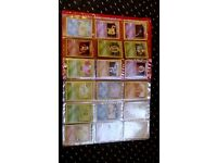 pokemon cards in original folder from base set on wards