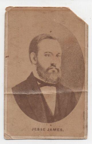 Rare Original 1880 CDV Tobacco Advertising Photo of Jesse James Quincy Illinois