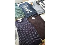 10 x men's jumpers. 2 with tags. Size S / Small. Topman, River Island etc