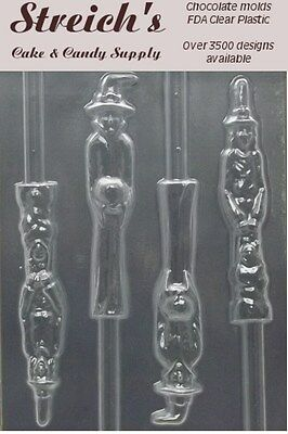 Scary Witches Pretzel Chocolate Candy Mold - Scary Witches