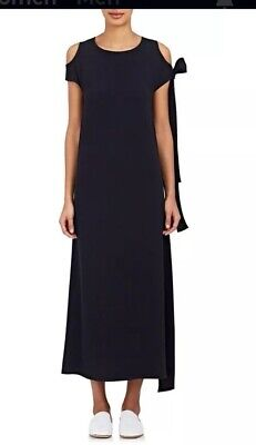 Helmet Lang Navy The Dre Sleeveless Long Dress Tie CutShoulder Nwt $595 Size S](Cut Out Dres)
