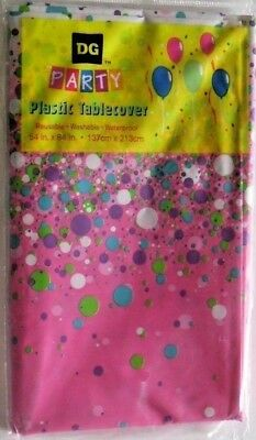 """TABLE COVER PLASTIC PROTECTOR LARGE 54"""" X 84"""" BIRTHDAY PARTY /SEE MY OTHER ITEMS for sale  Aurora"""