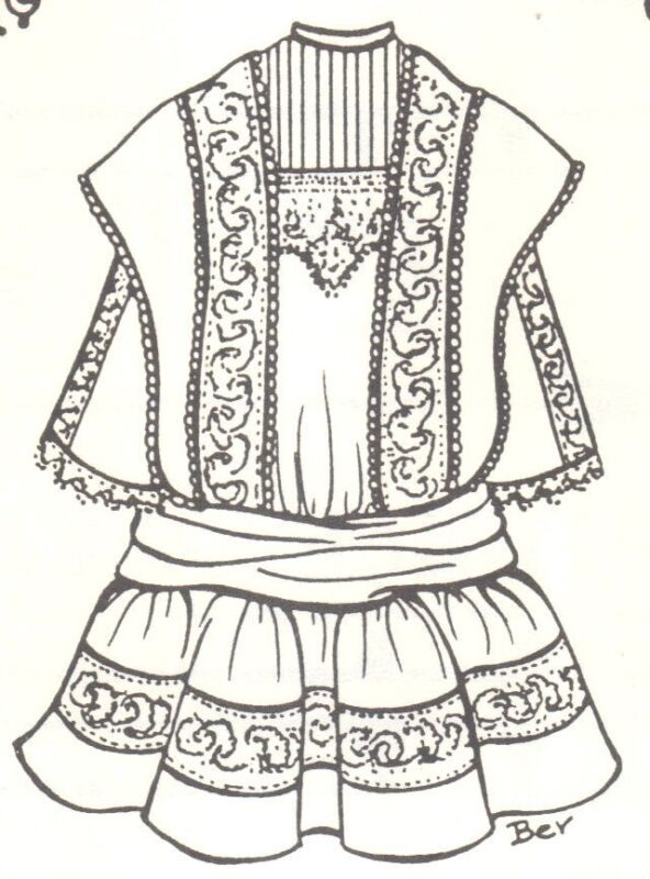 "DOLL DRESS  24 - 25"" sewing PATTERN Victorian  German  French  970"