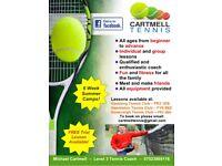 Tennis Lessons - Preston Area - Garstang, Hambleton, Goosnargh