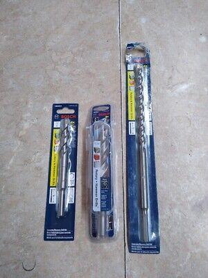 3 Bosch Rotary Hammer Drill Bits 58 12 34