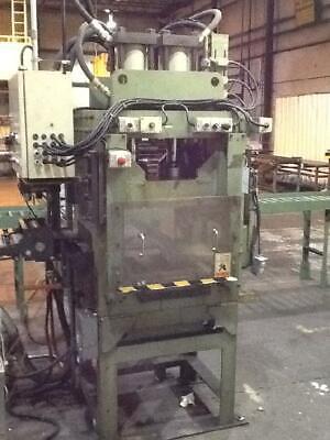 50 Ton Hydraulic 4 Post Press 10 Stroke 18 Daylight 24 Lr X 25 Fb Ram 24 Lr