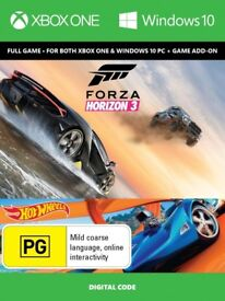 Forza Horizon 3 plus Hotwheels Expansion Pack Downloadable Game Code