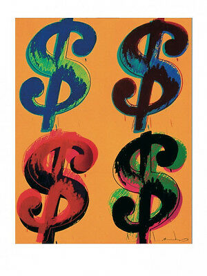 Andy Warhol Dollar Sign (4 $ Sign by Andy Warhol Art Print Offset Lithograph Poster Four Dollar 23x31.5 )