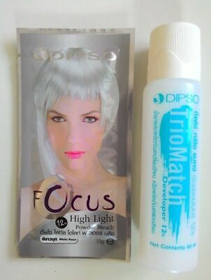 Hair Lightening Kit - DIPSO Hair Bleaching DyeToner Lightener Lightening Powder Kit Bleach White Pearl