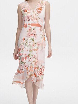 Calvin Klein Floral Print A Line Dress Xl