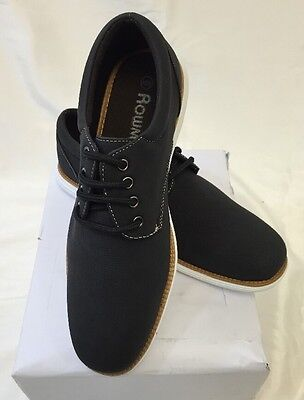 Italian Lace Shoes - MENS ROWMAN SHOES Loafer LACE UP Italian Casual Slip-On SUEDE JET BLACK NEW HOT