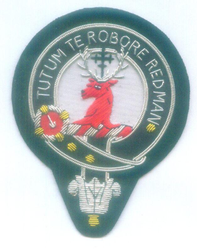 Royal Scottish Scotland Clan Celtic Crest Heraldry Family Name Crawford Patch UK