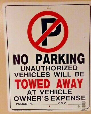 No Parking Anytime Violators Will Be Towed At Owners Expense Sign 2 Pack