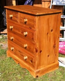 "High Quality Solid Pine Chest of Drawers (36"" Width)"