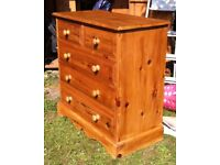 """High Quality Solid Pine Chest of Drawers (36"""" Width)"""