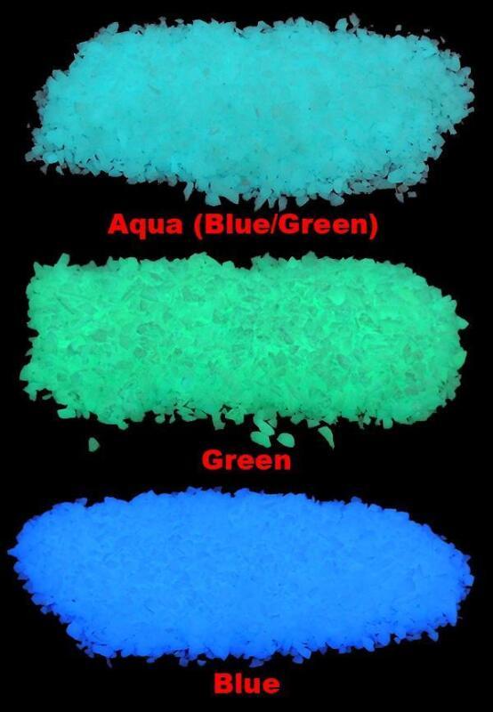 Micro GLOW IN THE DARK Rubble ~ 4oz ~ Aquariums * Fish Tank Gravel ~ Pebbles