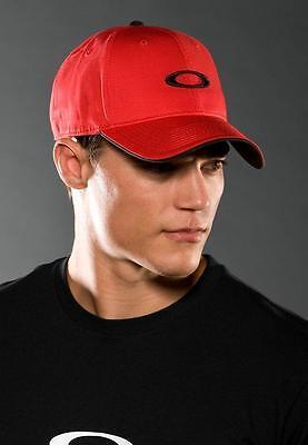Oakley Men's Adjustable Silicon O Snapback Hat Cap - Red Line