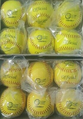 Practice Softball, Yellow, 12-Inch (One Dozen) by TAG