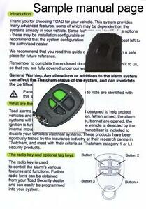Toad-alarm-and-immobiliser-User-manuals