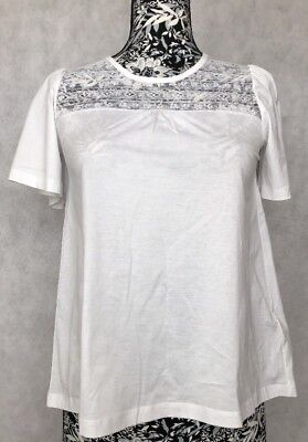Burberry Women Too Size XS TP White Lace NWT 100% Cotton
