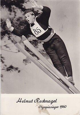 alte AK, Skispringer Helmut Recknagel