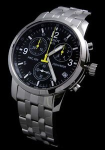 Tissot  Men Black Dial Swiss Quartz PRC 200 Chronograph Watch T17.1.586.52