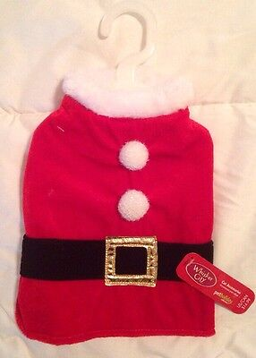 NWT Whisker City Cat Dog Pat Red Santa Suit Coat Small ()