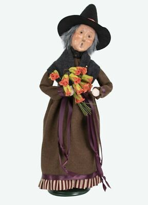 2019 Byers Choice Witch with Dead Roses New Hair Design Spooky Halloween Caroler - Byers Choice Halloween Carolers