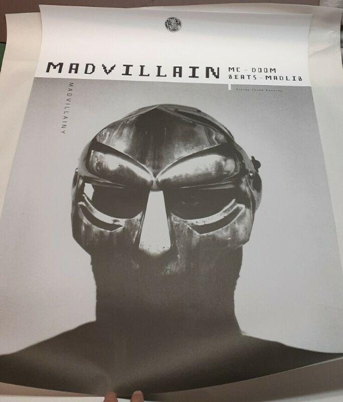NEW Madvillain MF DOOM Madlib Stones Throw OFFICIAL Poster Mask Jeff Jank Photo