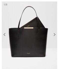 TED BAKER Leather large shopper bag