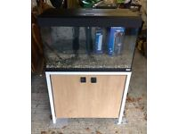 Fluval Roma 125 Aquarium & Stand With Upgraded Filter & Heater (used < 6 months)